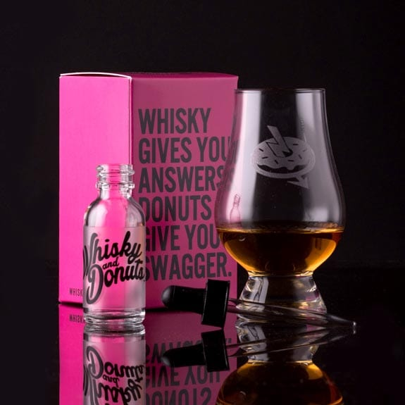 Whisky and Donuts Nosing Glass Landing