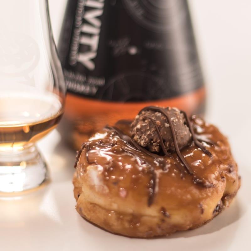 Relativity Whiskey & Rerrero Roche Hazelnut Crunch - Whisky And Donuts - WhiskyAndDonuts.com