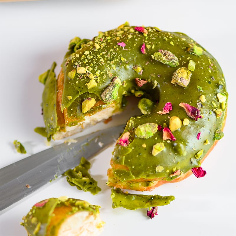 Wolfburn Langskip | Matcha Pistachio+Rose - Whisky And Donuts - WhiskyAndDonuts.com
